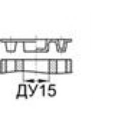 Заглушка для фланцевых наконечников стандарта SAE (код 62) с отверстием ДУ15 (1/2