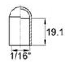 Термостойкая наружная заглушка для прутков диаметром 1.6 мм. Подходит под резьбу UNF 1-16