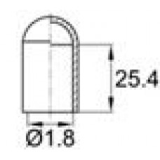 Термостойкая наружная заглушка для прутков диаметром 1.8 мм. Подходит под резьбу UNF 1-16