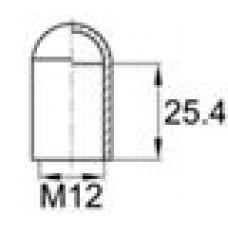 Термостойкая наружная заглушка для труб-прутков диаметром 11.6 мм. Подходит под резьбу М12. Выдерживает температуру до 315 °С.
