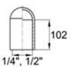 Термостойкий силиконовый колпачок для труб/прутков диаметром 12.7 мм. Подходит под резьбу UNF 1/2