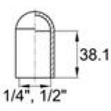 Термостойкая наружная заглушка для труб-прутков диаметром 12.7 мм. Подходит под резьбу UNF 1-2