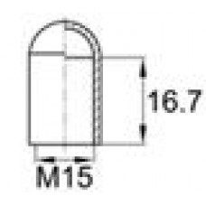 Термостойкая наружная заглушка для труб круглого сечения с внешним диаметром 14.3 мм. Подходит под резьбу М15. Выдерживает температуру до 315 °С.