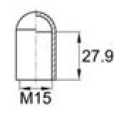 Термостойкий колпачок для труб круглого сечения с внешним диаметром 14.3 мм. Подходит под резьбу М15. Выдерживает температуру до 315 °С.