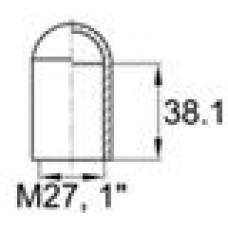 Термостойкий колпачок для труб круглого сечения с внешним диаметром 25.4 мм. Подходит под резьбу М27, UNF 1