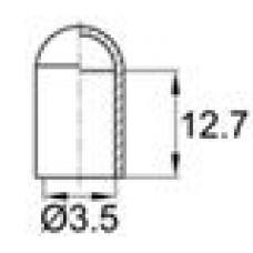 Термостойкая наружная заглушка для прутков диаметром 3.5 мм. Подходит для наружной резьбы М4. Выдерживает температуру до 315 °С.