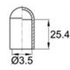Термостойкий колпачок для прутков диаметром 3.5 мм. Подходит для наружной резьбы М4. Выдерживает температуру до 315 °С.