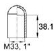 Термостойкая наружная заглушка для труб круглого сечения с внешним диаметром 31.8 мм. Подходит под резьбу М33, UNF 1 1-4