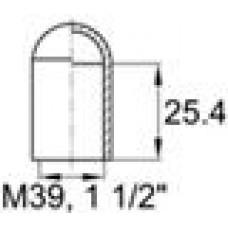 Термостойкая наружная заглушка для труб круглого сечения с внешним диаметром 38.1 мм. Подходит под резьбу М39, UNF 1 1-2