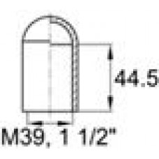 Термостойкий колпачок из силикона для труб круглого сечения с внешним диаметром 38.1 мм. Подходит под резьбу М39, UNF 1 1/2