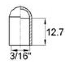 Термостойкая наружная заглушка для прутков диаметром 4.4 мм. Выдерживает температуру до 315 °С.