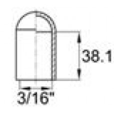Термостойкая наружная заглушка для для прутков диаметром 4.4 мм. Выдерживает температуру до 315 °С.