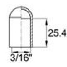 Термостойкая наружная заглушка для прутков диаметром 4.6 мм. Выдерживает температуру до 315 °С.
