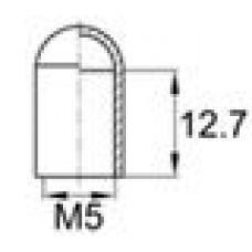 Термостойкая наружная заглушка для прутков диаметром 4.8 мм. Подходит под резьбу М5. Выдерживает температуру до 315 °С.