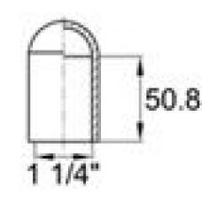 Термостойкая наружная заглушка для труб круглого сечения с внешним диаметром 41.3 мм. Подходит под резьбу UNF 1 1-4