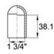 Термостойкая наружная заглушка для труб круглого сечения с внешним диаметром 44.5 мм. Подходит под резьбу UNF 1 3-4