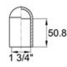 Термостойкий силиконовый колпачок для труб круглого сечения с внешним диаметром 44.5 мм. Подходит под резьбу UNF 1 3/4