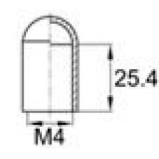 Термостойкий колпачок для прутков диаметром 4 мм. Подходит под резьбу М4. Выдерживает температуру до 315 °С.
