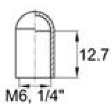Термостойкая наружная заглушка для труб-прутков диаметром 5.9 мм. Подходит под резьбу М6, UNF 1-4