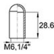 Термостойкий колпачок из силикона для труб/прутков диаметром 5.9 мм. Подходит под резьбу М6, UNF 1/4