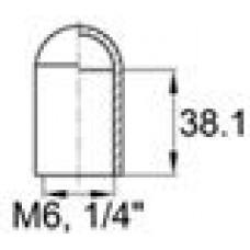 Термостойкий колпачок для труб/прутков диаметром 5.9 мм. Подходит под резьбу М6, UNF 1/4