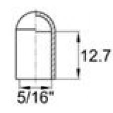 Термостойкая наружная заглушка для труб-прутков диаметром 7.1 мм или под резьбу UNF 5-16