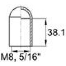 Термостойкая наружная заглушка для труб-прутков диаметром 7.5 мм. Подходит под резьбу М8, UNF 5-16