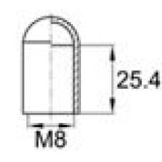 Термостойкая наружная заглушка для труб-прутков диаметром 7.9 мм. Подходит под резьбу М8. Выдерживает температуру до 315 °С.