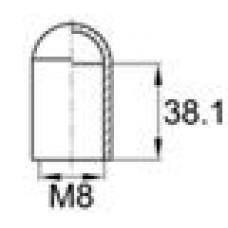 Термостойкий колпачок для труб/прутков диаметром 7.9 мм. Подходит под резьбу М8. Выдерживает температуру до 315 °С.