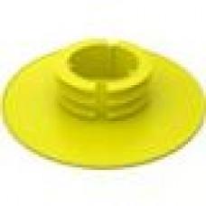 Заглушка пластиковая для шаровых кранов полностью закрывающая фланец корпуса крана.