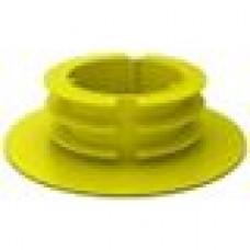 Заглушка пластиковая для шаровых кранов частично закрывающая фланец корпуса крана.