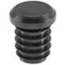 Заглушка пластиковая внутренняя с толстой шляпкой для труб круглого сечения ДУ15 мм