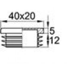 Заглушка пластиковая для овальной трубы 40x20 мм с толщиной стенки 1.0-3.0 мм.