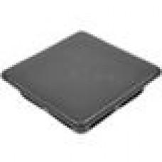 Заглушка пластиковая внутренняя с ребрами и плоской шляпкой для труб квадратного сечения с внешними габаритами 150x150 мм и толщиной стенки 10.0-12.5 мм.