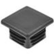 Заглушка пластиковая внутренняя с ребрами и плоской шляпкой для труб квадратного сечения с внешними габаритами 50x50 мм и толщиной стенки 3.5-6.0 мм.