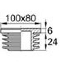 Заглушка пластиковая прямоугольная 80х100, практичная, Модель ILR, стенка 3.0-5.5мм, чёрная