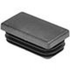 Заглушка пластиковая прямоугольная 25x45, практичная, Модель ILR, стенка 0.8-3.0 мм, черная