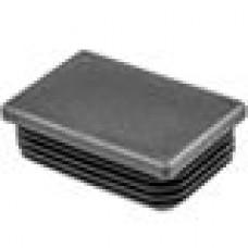 Заглушка пластиковая прямоугольная 40x60, практичная модель ILR, стенка 0.8-3.0 мм., черная