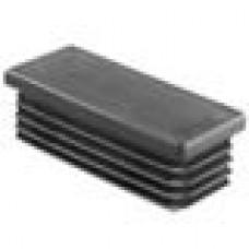 Заглушка пластиковая внутренняя с ребрами и плоской шляпкой для труб прямоугольного сечения с внешними габаритами сечения 70x30 мм и толщиной стенки 0.8-3.5 мм.
