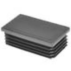 Заглушка пластиковая внутренняя с ребрами и плоской шляпкой для труб прямоугольного сечения с внешними габаритами сечения 70x40 мм и толщиной стенки 1.0-3.5 мм.