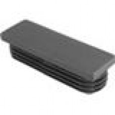 Заглушка пластиковая внутренняя с ребрами и плоской шляпкой для труб прямоугольного сечения с внешними габаритами сечения 75x25 мм и толщиной стенки 1.0-3.0 мм.
