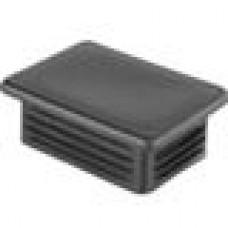 Заглушка пластиковая внутренняя с ребрами и плоской шляпкой для труб прямоугольного сечения с внешними габаритами сечения 80x60 мм и толщиной стенки 3.5-6.0 мм.