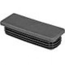 Заглушка пластиковая внутренняя с ребрами и плоской шляпкой для труб прямоугольного сечения с внешними габаритами сечения 80x30 мм и толщиной стенки 1.0-2.5 мм.