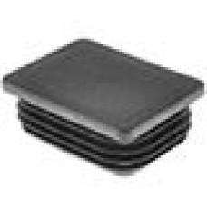 Заглушка пластиковая внутренняя с ребрами и плоской шляпкой для труб прямоугольного сечения с внешними габаритами сечения 80x60 мм и толщиной стенки 1.5-5.0 мм.