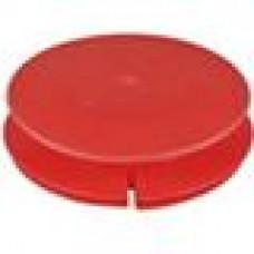 Пластиковая внутренняя заглушка с тонкой шляпкой для труб круглого сечения с внешним диаметром 108 мм