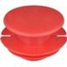 Заглушка пластиковая внутренняя с тонкой шляпкой для труб круглого сечения ДУ40.