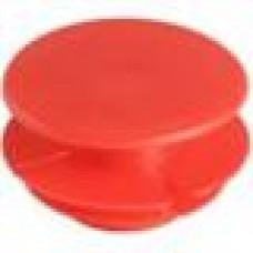 Заглушка пластиковая внутренняя с тонкой шляпкой для труб круглого сечения ДУ44.