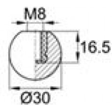 Фиксатор М8 с диаметром шарика 30 мм.