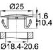 Заглушка пластиковая с тонкой шляпкой 25 мм для отверстия диаметром 18.4-20.6 мм.
