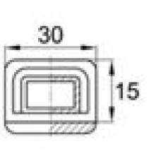 Наконечник пластиковый для труб прямоугольного сечения с внешними габаритами 30х15 мм